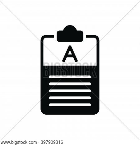 Black Solid Icon For Answer Reply Respond Feedback Result Comment Frequently Explanation Text Paper