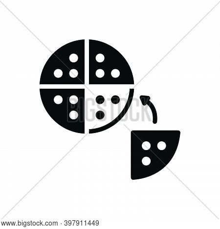 Black Solid Icon For Division Partition Separation Part Slice Piece Breakup Distribution