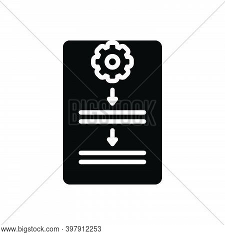 Black Solid Icon For Procedure Process Protocol Document Guideline Work Organization Compliance Poli