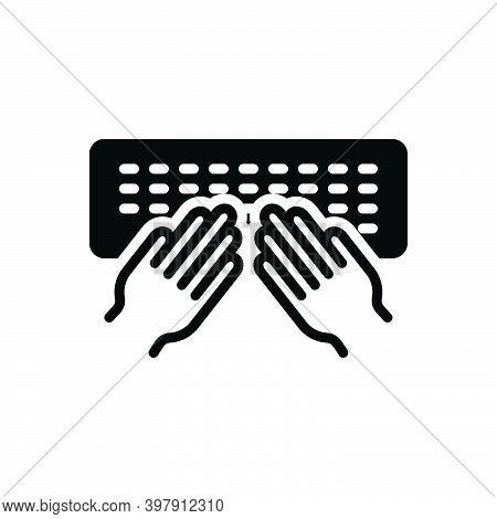 Black Solid Icon For Type Desktop Electronic Hand Letters Equipment Hand-typing Programming Keyboard