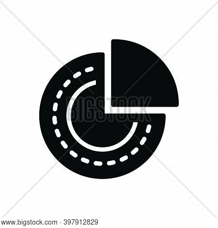 Black Solid Icon For Portion Part Piece Division Quarter Chart Pie-chart Circular Particular Basis