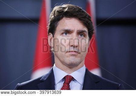 Ottawa, Canada, September 2020, Canada Prime Minister Justin Trudeau In Parliament Meeting