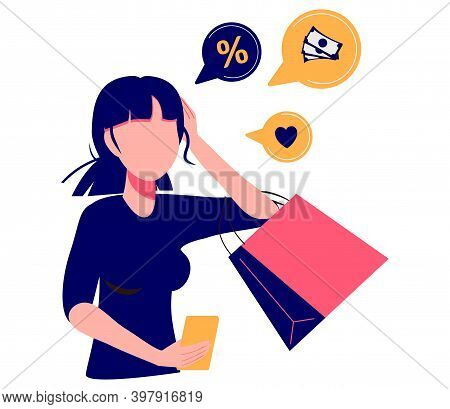 Consumer Motivation Abstract Concept Vector Illustration. Motivation In Consumer Behaviour, Sale Gro