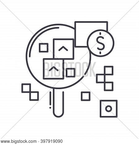 Objective Icon, Linear Isolated Illustration, Thin Line Vector, Web Design Sign, Outline Concept Sym