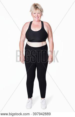 Size inclusive sportswear apparel women's fashion studio shot