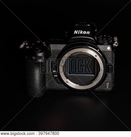 Dolyna City, Ukraine September 17, 2020: Z6 Camera, Close Up Of Camera Details, Matrix.