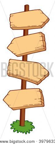 Pointing Wooden Signs