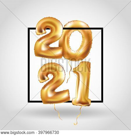 Metallic Gold Letter Balloons, 2020 2021 Happy New Year, Gold Number Balloons, Alphabet Letter Ballo