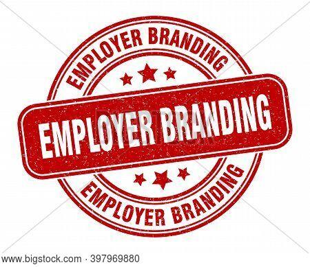 Employer Branding Stamp. Employer Branding Label. Round Grunge Sign