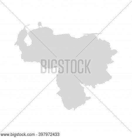 Venezuela Vector Map Shape Illustration. Venezuela Republic Silhouette