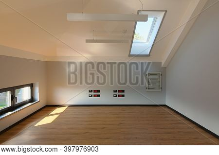 Interior And Details Of A New And Empty Loft Room.