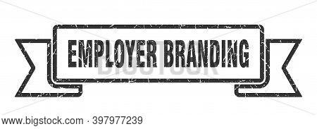 Employer Branding Ribbon. Employer Branding Grunge Band Sign. Employer Branding Banner