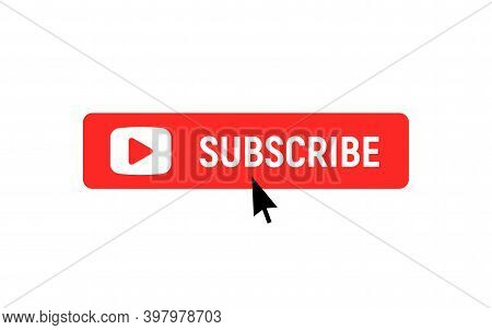 Subscription Element Logo. Subscribe Now Button, Channel Register Today Member Icon.