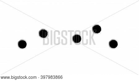Bullet Hole Drip Mark Shoot. Shot Impact Gun, Bullet Hole Hunshot Vector Stain On Transparent.
