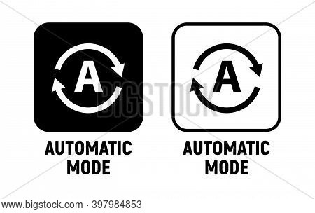 Vector Automatic Mode Smartphone Icon. Auto Mode Sign Switch Pictogram