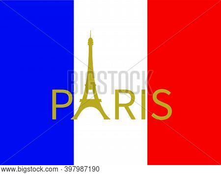 Eiffel Tower Paris France Architecture Vector Illustration