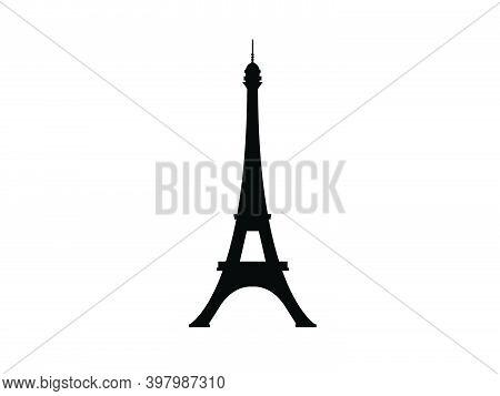 Eiffel Tower Paris Symbol France Architecture Vector Illustration