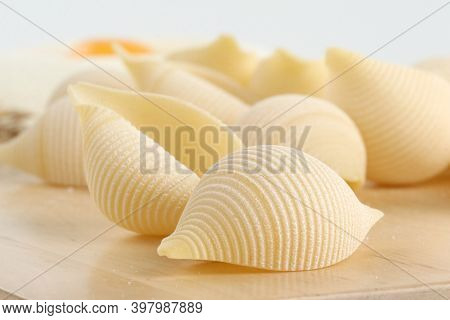Traditional Italian Pasta. Paste Background. Top View Of Italian Ingredients. Traditional Italian Pa