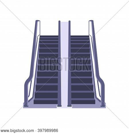 Vector Electric Airport Ladder Escalator. Elevator Vector Lift Escalator Icon