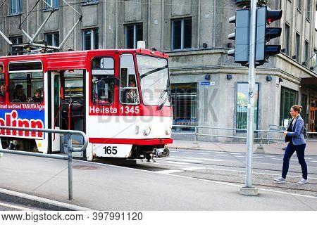 TALLINN, ESTONIA - August 28, 2017: Tramway in Tallinn, Estonia