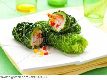 Summer Roll , Salad Roll , Fresh Spring Roll , Vietnamese Food