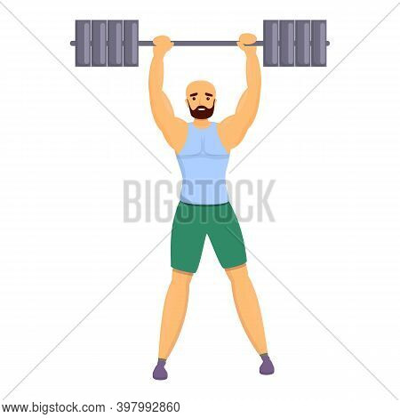 Bodybuilder Champion Icon. Cartoon Of Bodybuilder Champion Vector Icon For Web Design Isolated On Wh
