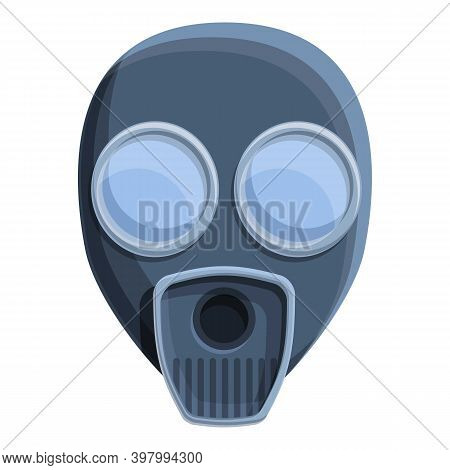 Toxic Gas Mask Icon. Cartoon Of Toxic Gas Mask Vector Icon For Web Design Isolated On White Backgrou