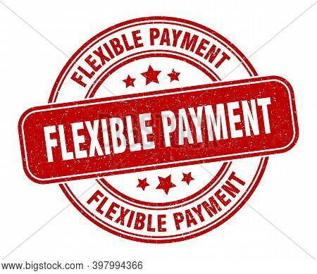 Flexible Payment Stamp. Flexible Payment Label. Round Grunge Sign