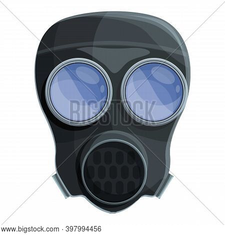 Extreme Gas Mask Icon. Cartoon Of Extreme Gas Mask Vector Icon For Web Design Isolated On White Back