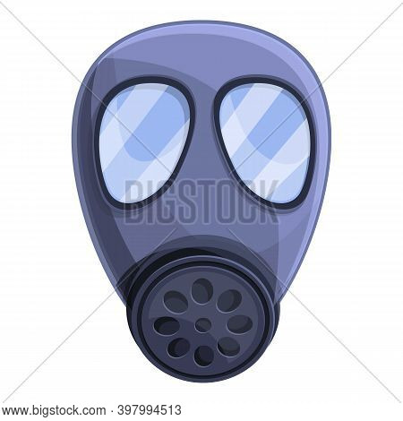 Chemical Gas Mask Icon. Cartoon Of Chemical Gas Mask Vector Icon For Web Design Isolated On White Ba
