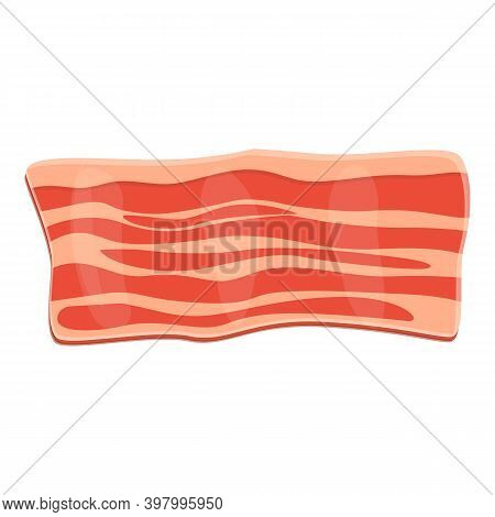 Bacon Smoked Icon. Cartoon Of Bacon Smoked Vector Icon For Web Design Isolated On White Background