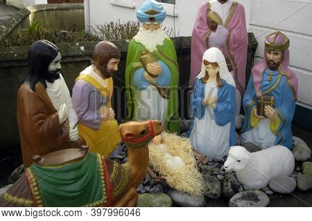 Christmas Crib Or Nativity Scene, Folk Culture During The Christmas Time