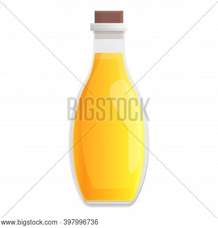 Canola Oil Bottle Icon. Cartoon Of Canola Oil Bottle Vector Icon For Web Design Isolated On White Ba