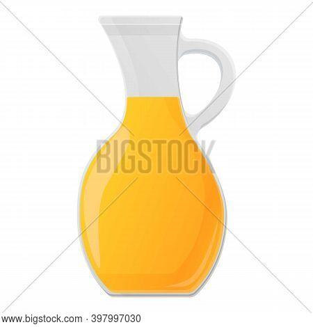 Canola Oil Jug Icon. Cartoon Of Canola Oil Jug Vector Icon For Web Design Isolated On White Backgrou