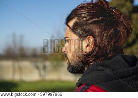 Shoulders Boy With Long Hair 2