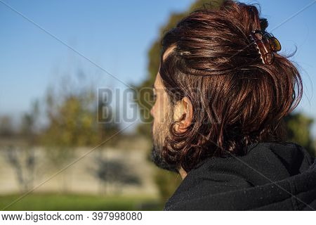 Shoulders Boy With Long Hair