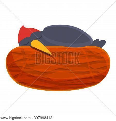 Woodpecker Sleep Icon. Cartoon Of Woodpecker Sleep Vector Icon For Web Design Isolated On White Back
