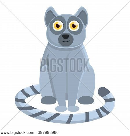 Lemur Mammal Icon. Cartoon Of Lemur Mammal Vector Icon For Web Design Isolated On White Background