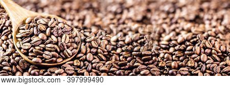 Arabica Coffee Seeds, A Type Of Natural Coffee From Arabia Or Ethiopia. High Resolution Image In Out