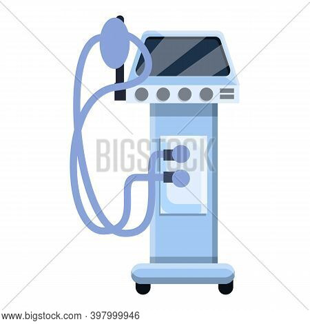 Ventilator Medical Machine Icon. Cartoon Of Ventilator Medical Machine Vector Icon For Web Design Is