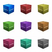 Success Boxes in 3d Cube Format Isolated on White poster
