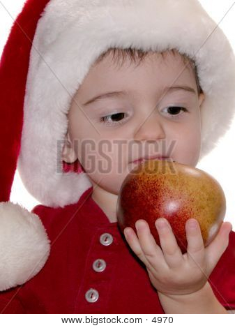 Santa Baby And The Apple