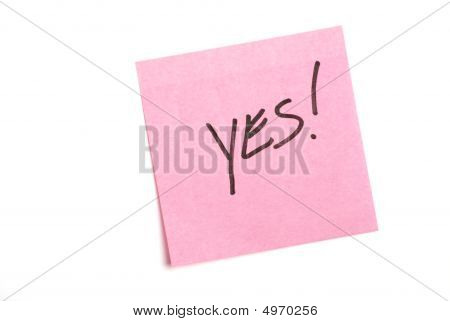 Pink Note Isolated On White