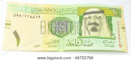 One SAR a currency of Saudi Arabia