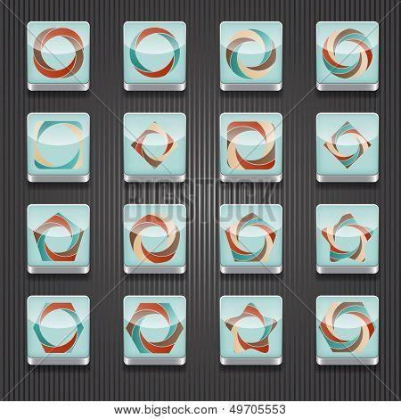 16 Vector  Shiny Icons