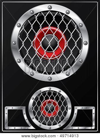 Speaker With Grid Design