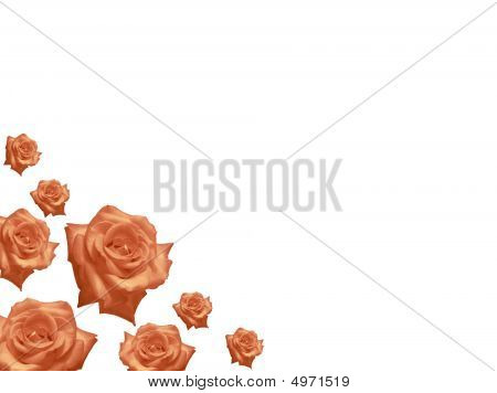 Mothers Day Card  Rose Flowers Frame Background