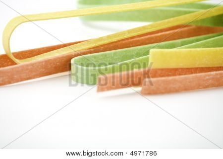 3 Colour Tagliatelle- Close-up