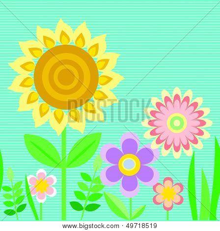 Infinite Linear Flower Ornament