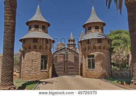 A main entrance of Chateau de Nates, South Africa